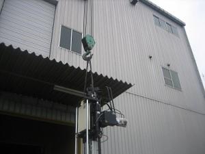 中国・天津 現地工場搬入までの一貫輸送(成形機)